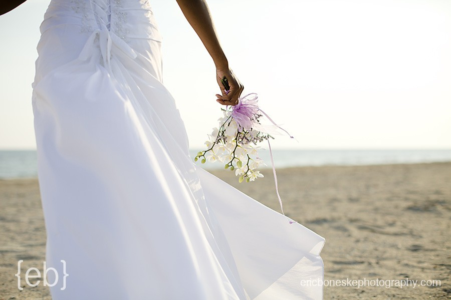 bald head island bride bouquet