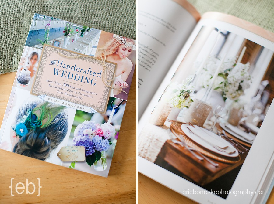 Featured in The Handcrafted Wedding Book Eric Boneske Photography
