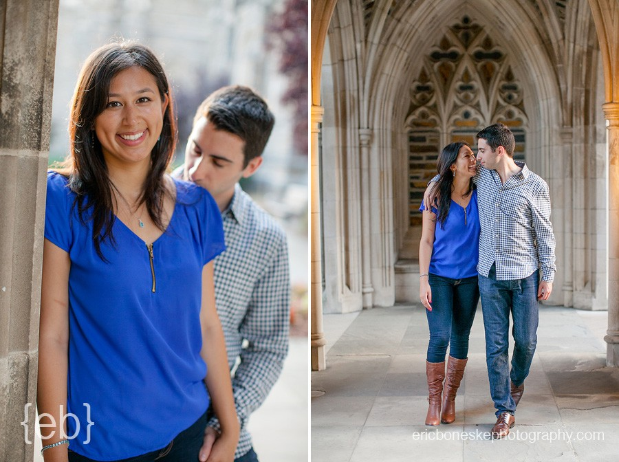 duke, duke gardens, garden, university, engagement, cute, couple, happy, picnic, sake, save the date