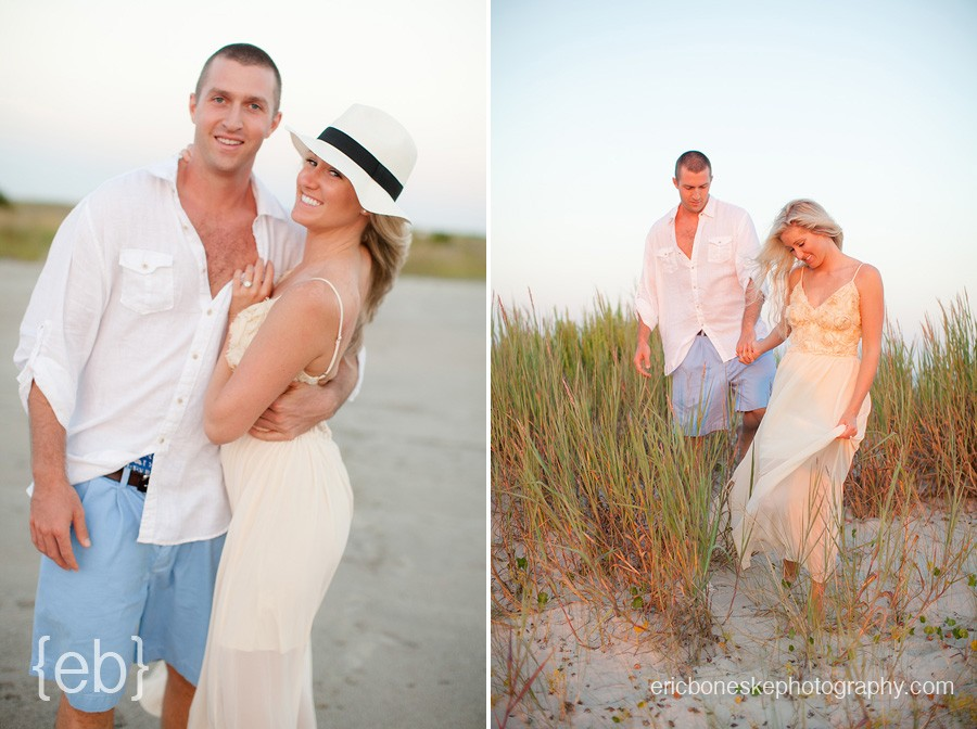 topsail, island, beach, engagement, session, photography, happy couple, engaged, north carolina, sweet, dreamy