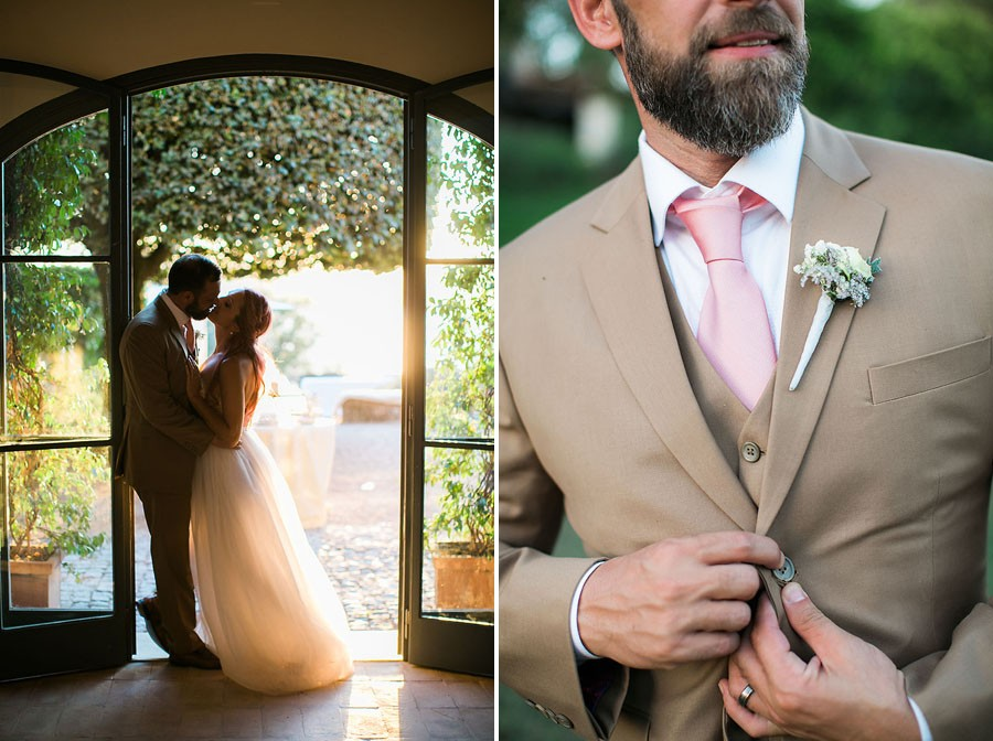 eric boneske photography, destination, travel, wedding photographer, Tuscany Italy, Italian, bride, groom, husband, wife, engagement ring, blue ruby, diamonds, boutonniere,