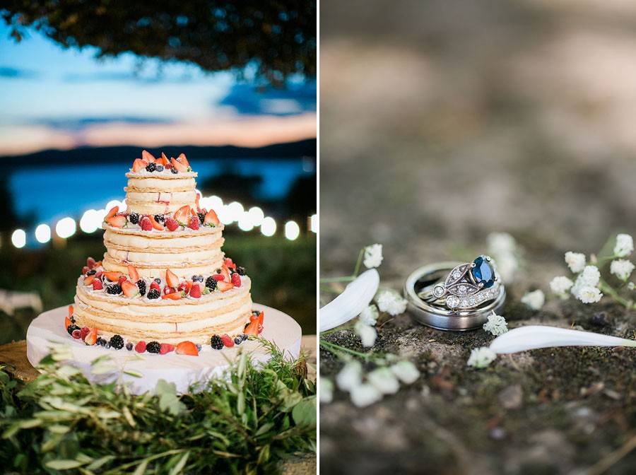 eric boneske photography, destination, travel, wedding photographer, Tuscany Italy, Italian, bride, groom, husband, wife, engagement ring, food, blue ruby, diamonds, wedding cake,