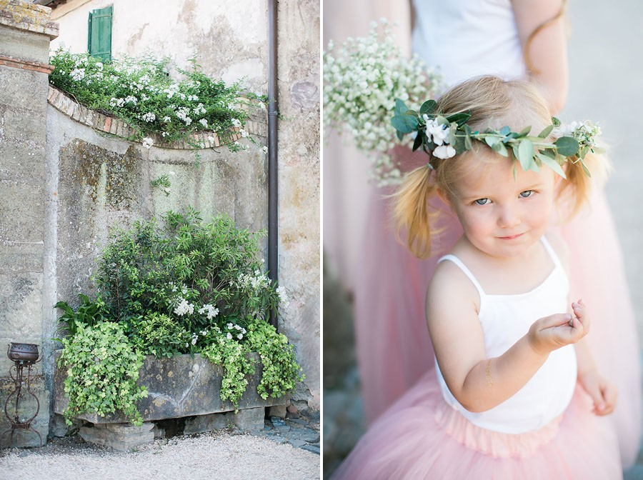 eric boneske photography, wedding photographer, destination, Tuscany Italy, marriage, wedding, love, groom, groomsmen, friends, family, venue, destination wedding, ceremony, reception, flower girl, flower crown, pink flower girl dress,
