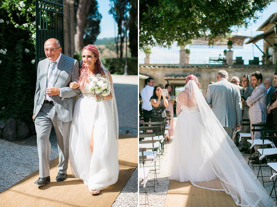 eric boneske photography, wedding photographer, destination, Tuscany Italy, marriage, wedding, love, groom, groomsmen, friends, family, venue, destination wedding, ceremony, reception, walking down isle, father, daughter, white flower bouquet,