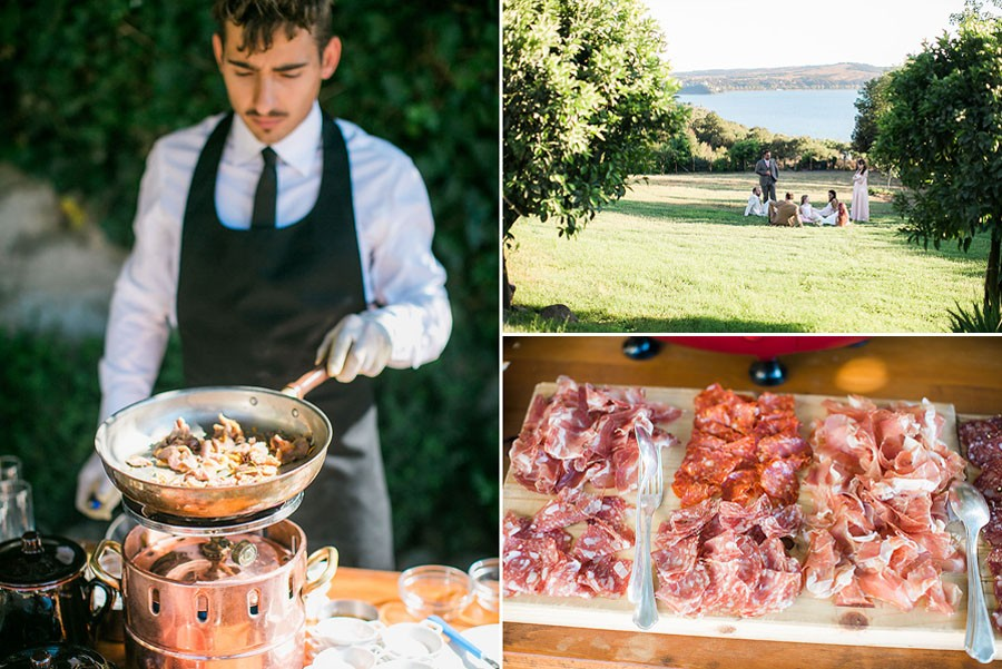eric boneske photography, wedding photographer, destination, Tuscany Italy, marriage, wedding, love, groom, groomsmen, friends, family, venue, destination wedding, ceremony, reception, food, appetizers, server, catering, food table,