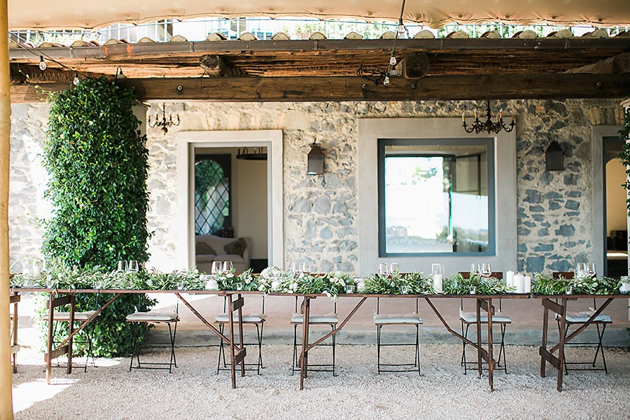 eric boneske photography, destination, travel, wedding photographer, Tuscany Italy, Italian, bride, groom, husband, wife, reception, table, decorations,