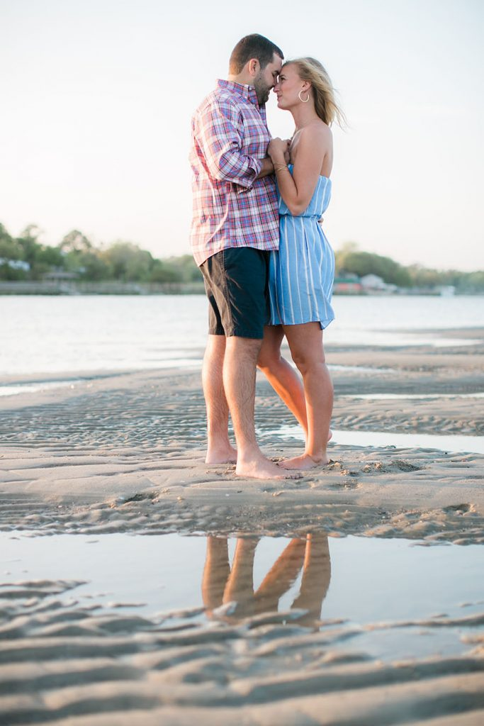 engagement, shallotte, North Carolina, beach, coastal, summertime, summer, bride to be, groom to be, love, affection