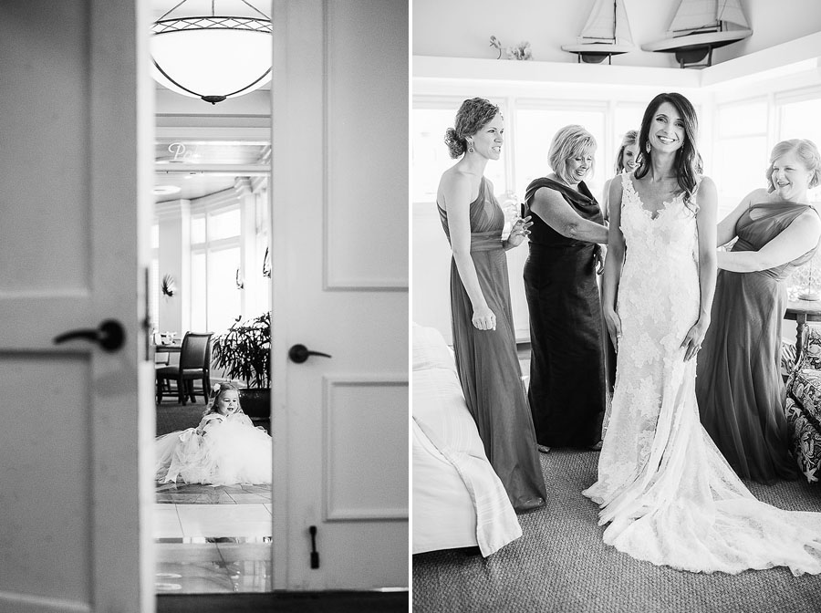 eric boneske photography, bald head island club, flower girl, wedding, getting ready, wedding dress, maid of honor, bridesmaids, mother, friends, family, hair, makeup, engagement ring, venue,