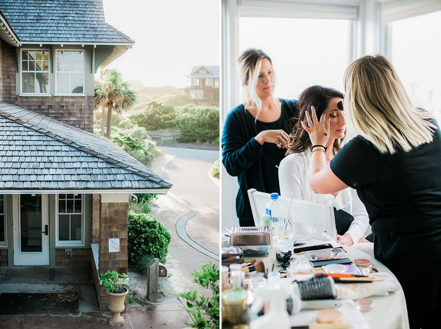 eric boneske photography, bald head island club, wedding, getting ready, hair, makeup, white robe, bride, coastal wedding, North Carolina,