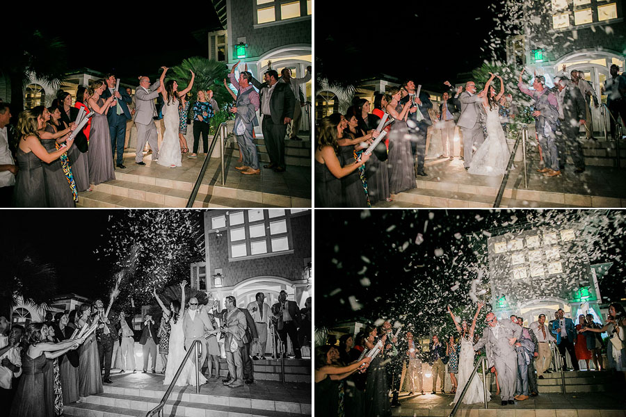 eric boneske photography, wedding photographer, travel, destination, the big day, bride, groom, boutonniere, white bouquet, love, marriage, newlyweds, confetti exit, end of the night,