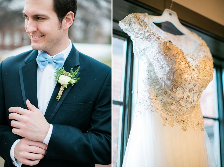 groom, boutonniere, bow tie, wedding dress, engagement ring, wedding day, North Carolina, destination photographer, Wilmington nc, big day, bride, sedgefield country club, eric boneske photography, getting ready, b