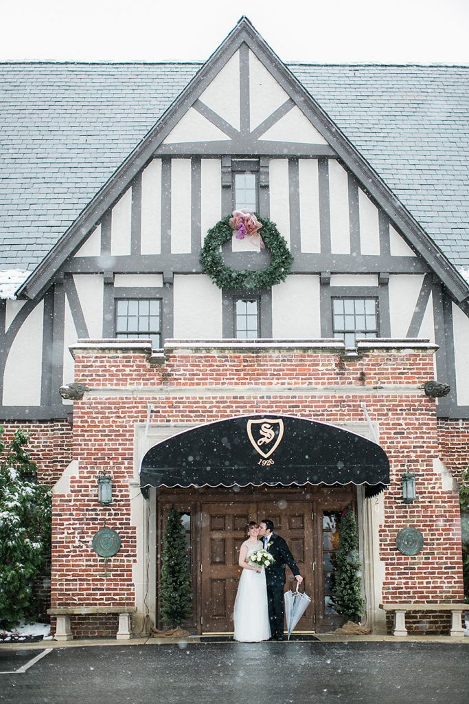 snowfall, groom, boutonniere, snow, bow tie, invitations, snowy wedding, wedding dress, engagement ring, wedding day, North Carolina, destination photographer, Wilmington nc, big day, bride, sedgefield country club, eric boneske photography,