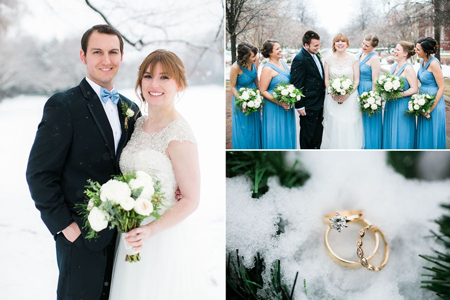 engagement ring, winter wonderland, friends, groom, boutonniere, snow, bow tie, invitations, snowy wedding, wedding dress, engagement ring, wedding day, North Carolina, destination photographer, Wilmington nc, big day, bride, sedgefield country club, eric boneske photography,
