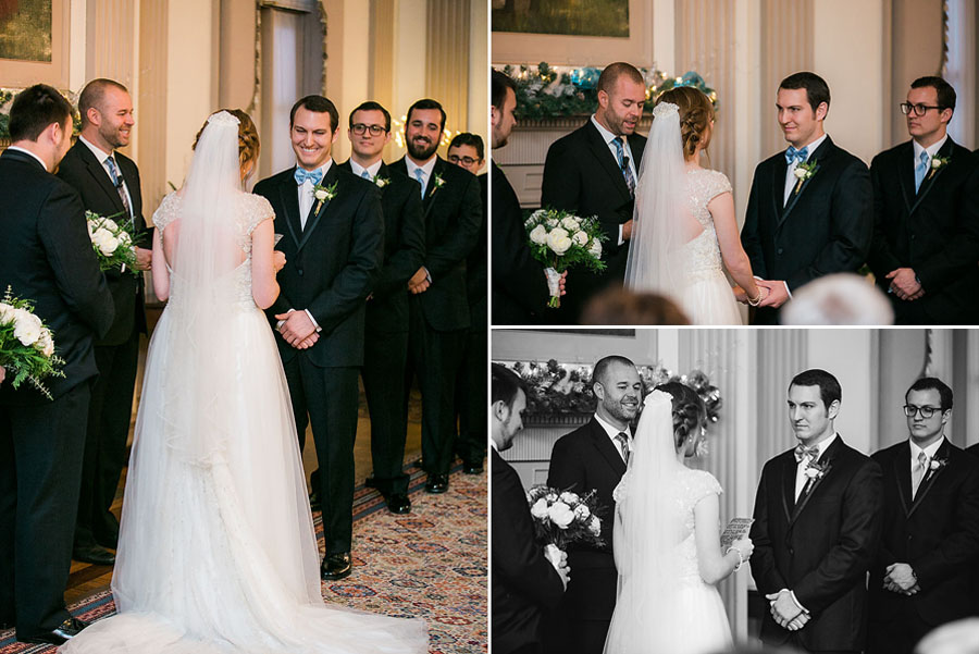 eric boneske photography, bride, groom, groomsmen, best man, ceremony, smiles, big day, white dress, wedding rings, vows,
