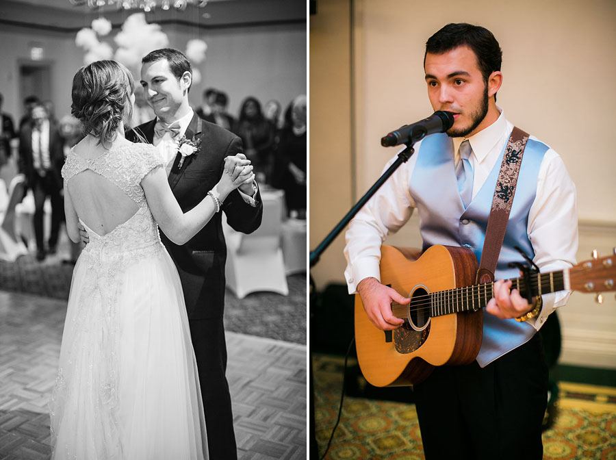 eric boneske photography, destination photographer, North Carolina, first dance, live music, reception, wedding day,