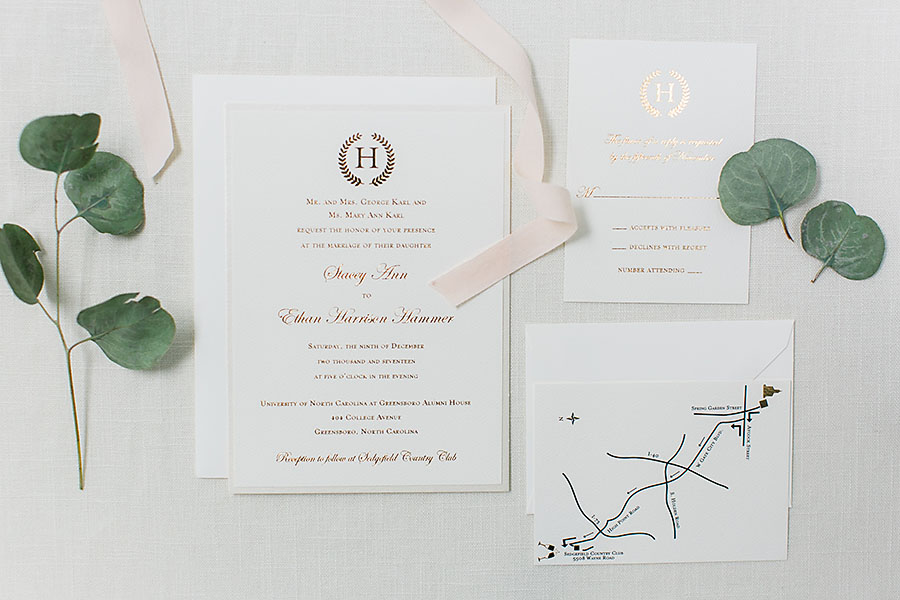 wedding day, North Carolina, destination photographer, Wilmington nc, big day, bride, sedgefield country club, eric boneske photography, invitations, RSVP, invitation decorations, map to venue